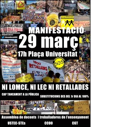 Manifestació Ni LOMCE, ni LEC, ni retallades